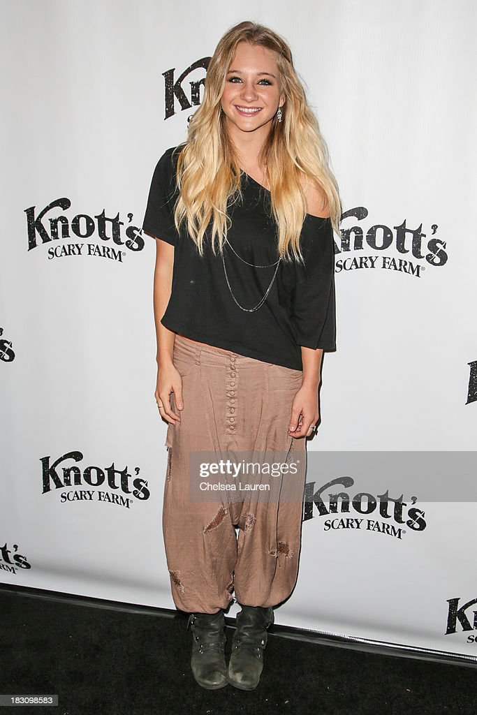 Actress/dancer Mollee Gray attends the Knott's Scary Farm 'Haunt' VIP Opening Night Party at Knott's Berry Farm on October 3, 2013 in Buena Park, California.