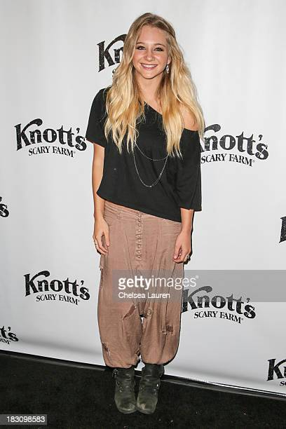 Actress/dancer Mollee Gray attends the Knott's Scary Farm 'Haunt' VIP Opening Night Party at Knott's Berry Farm on October 3 2013 in Buena Park...