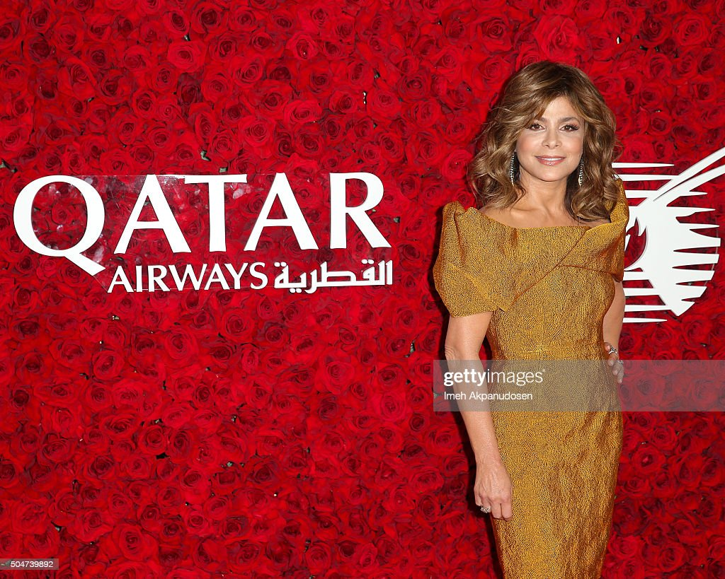 Actress/dancer Paula Abdul attends the Qatar Airways Los Angeles Gala at Dolby Theatre on January 12, 2016 in Hollywood, California.