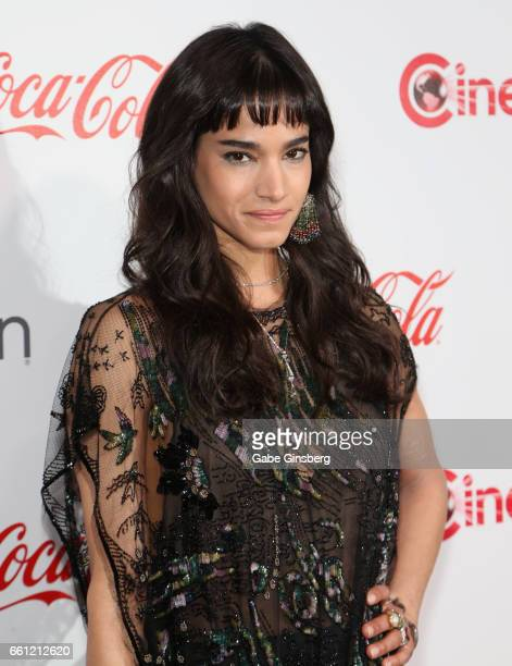 Actress/dancer Sofia Boutella recipient of the Female Star of Tomorrow Award attends the CinemaCon Big Screen Achievement Awards at Omnia Nightclub...