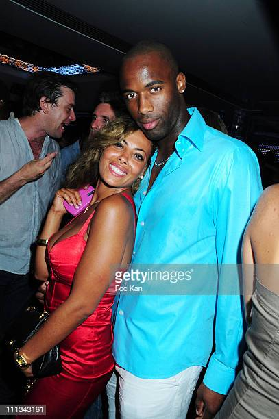 Actress/dancer/choreographer 'Miss Amal' and boy friend Jimmy Taurus attend the Karl Lagerfeld and DJ Big Ali Party at the VIP Room St Tropez on...