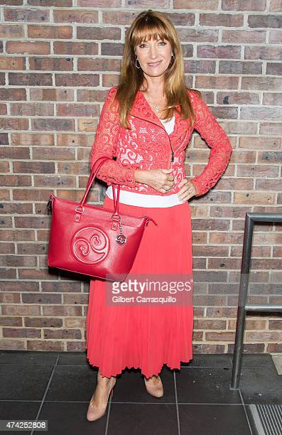 Actress/designer Jane Seymour is seen with her first handbag of her Open Hearts handbag collection during her visit to Fox 29's 'Good Day' at FOX 29...