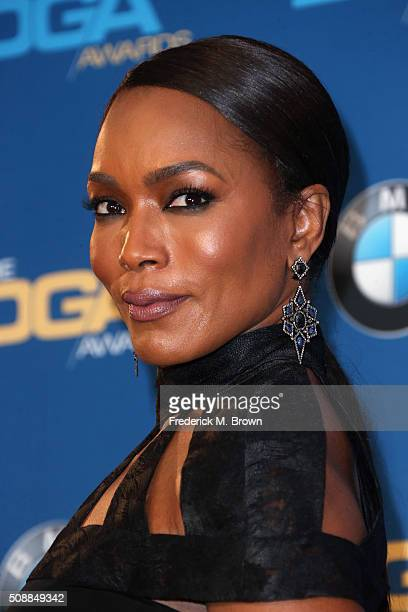 Actress/Director Angela Bassett poses in the press room during the 68th Annual Directors Guild Of America Awards at the Hyatt Regency Century Plaza...