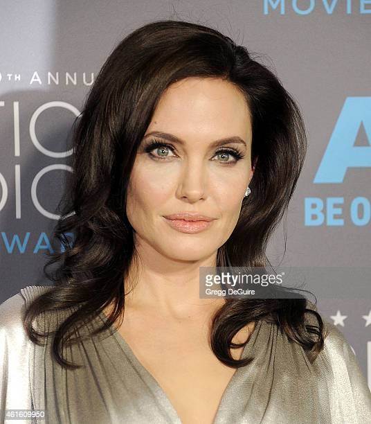 Actress/director Angelina Jolie arrives at the 20th Annual Critics' Choice Movie Awards at Hollywood Palladium on January 15 2015 in Los Angeles...
