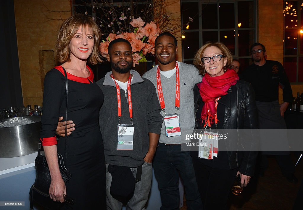 Actress/director Christine Lahti, associate producer Gerard McMurray, director Ryan Coogler and Director, Feature Film Program at Sundance Institute Michelle Satter attend An Artist At The Table, a benefit for the Sundance Institute during the 2013 Sundance Film Festival at The Shop on January 17, 2013 in Park City, Utah.