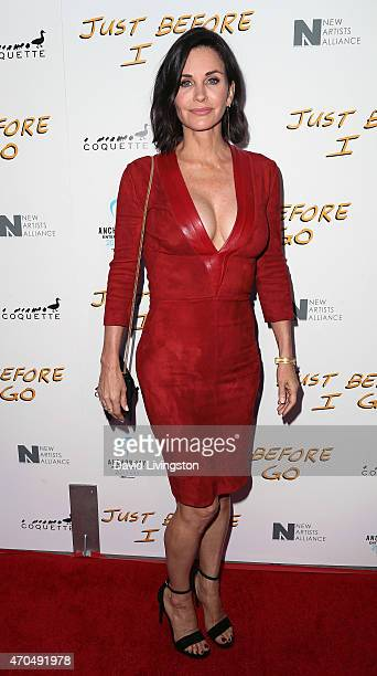 Actress/director Courteney Cox attends a screening of Anchor Bay Entertainment's 'Just Before I Go' at ArcLight Hollywood on April 20 2015 in...