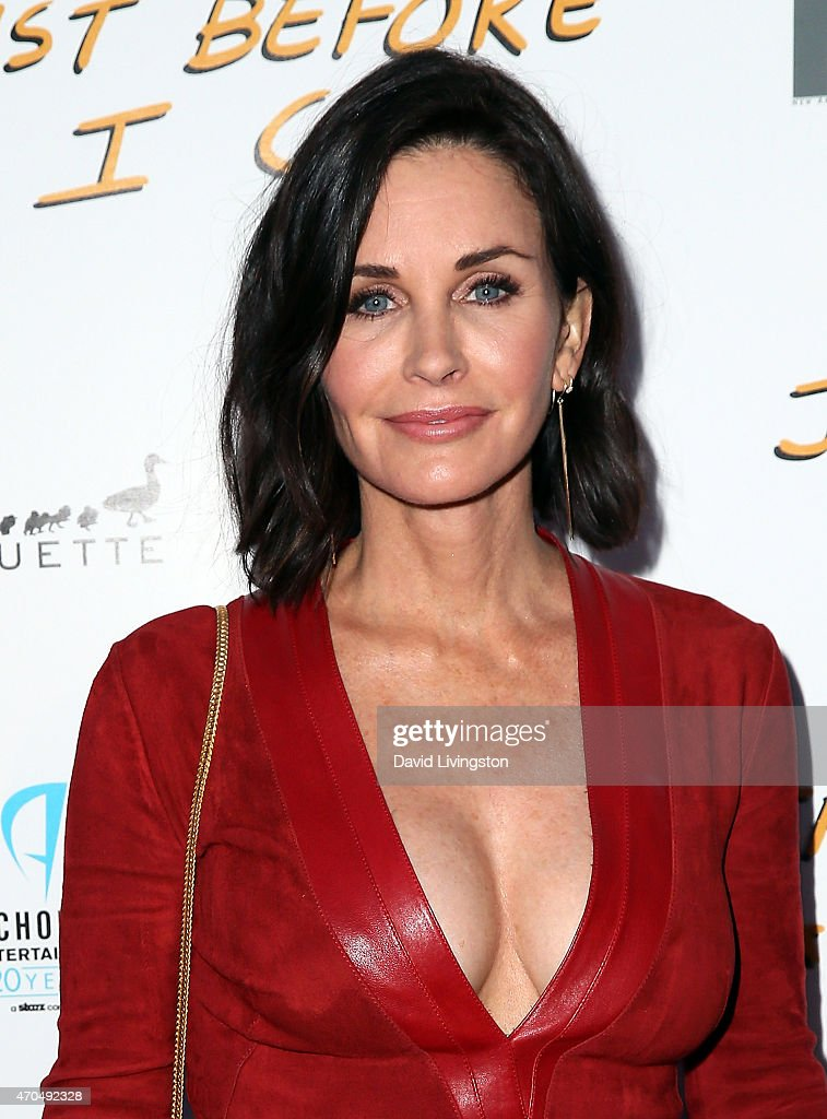 Actress/director <a gi-track='captionPersonalityLinkClicked' href=/galleries/search?phrase=Courteney+Cox&family=editorial&specificpeople=203101 ng-click='$event.stopPropagation()'>Courteney Cox</a> attends a screening of Anchor Bay Entertainment's 'Just Before I Go' at ArcLight Hollywood on April 20, 2015 in Hollywood, California.