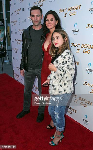 Actress/director Courteney Cox songwritwer Johnny McDaid and Coco Riley Arquette attends the screening of Anchor Bay Entertainment's 'Just Before I...