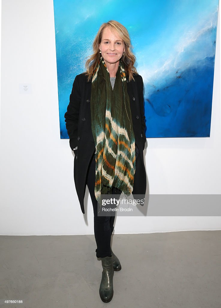 Actress/director Helen Hunt arrives at Steven Janssen's 'Brain Change' exhibition at De Re Gallery on November 17 2015 in West Hollywood California