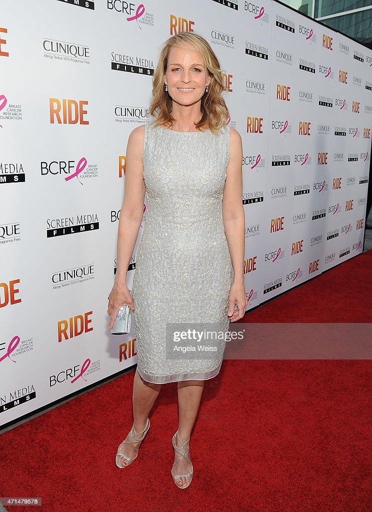 Actress/director Helen Hunt arrives at the premiere of 'Ride' at ArcLight Hollywood on April 28 2015 in Hollywood California