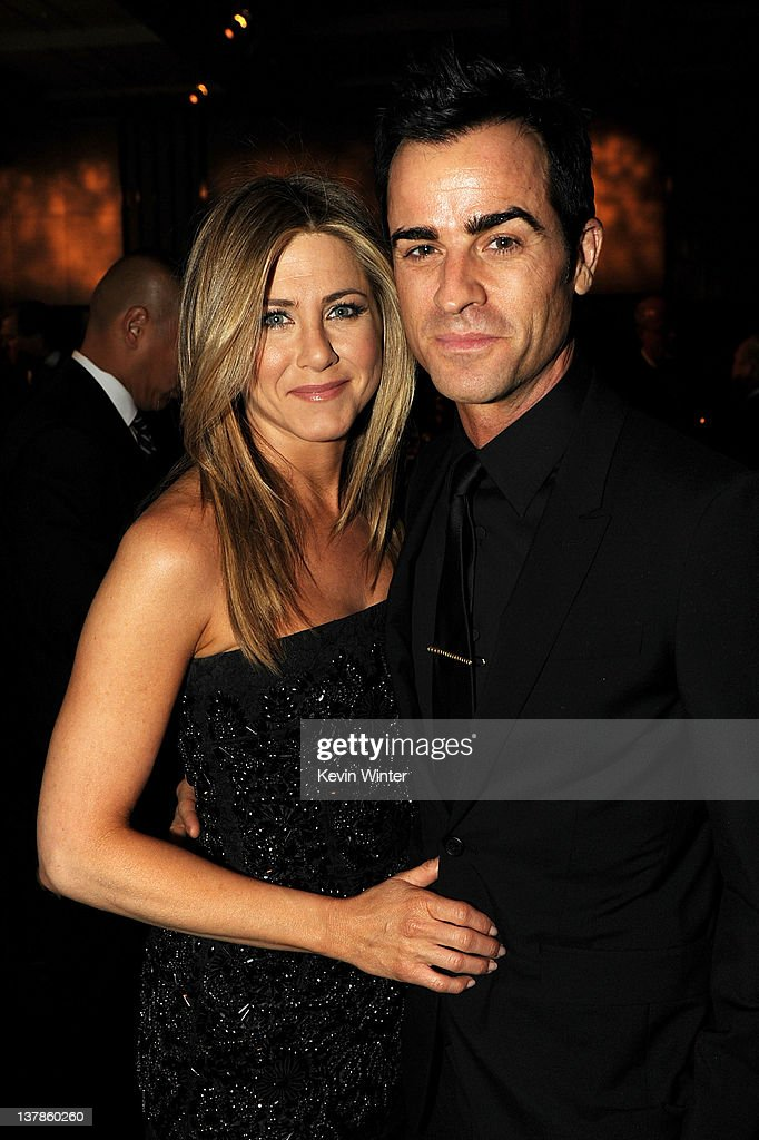 Actressdirector Jennifer Aniston and actordirector Justin Theroux attend the 64th Annual Directors Guild Of America Awards cocktail reception held at...