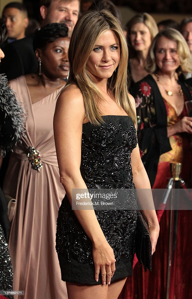 Actress-director Jennifer Aniston arrives at the 64th Annual Directors Guild Of America Awards held at the Grand Ballroom at Hollywood & Highland on January 28, 2012 in Hollywood, California.