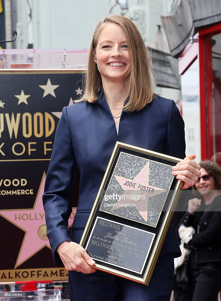 Actress Jodie Foster is honored with a Star on The Hollywood Walk of Fame on May 4, 2016 in Hollywood, California.
