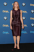 Actress/director Jodie Foster poses in the press room at the 67th Annual Directors Guild Of America Awards at the Hyatt Regency Century Plaza on...