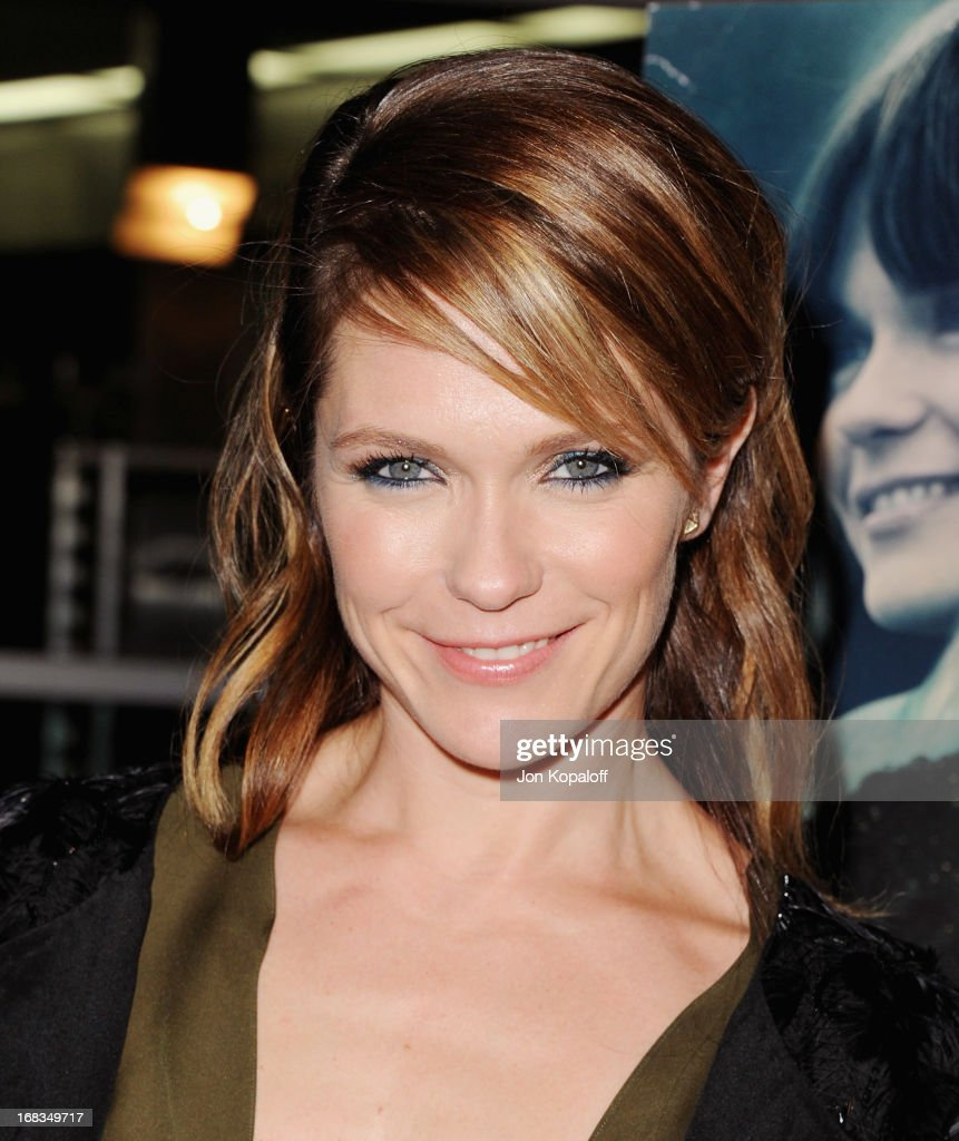 Actress/Director Katie Aselton arrives at the Los Angeles Premiere 'Black Rock' at ArcLight Hollywood on May 8, 2013 in Hollywood, California.