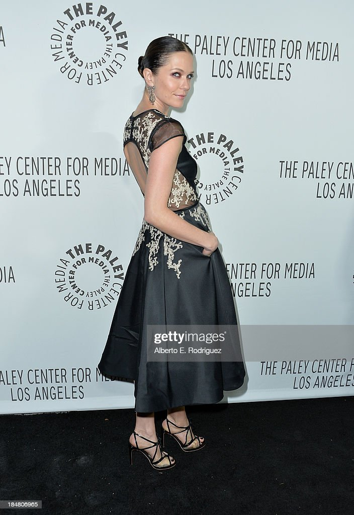 Actress/director Katie Aselton arrives at The Paley Center for Media's 2013 benefit gala honoring FX Networks with the Paley Prize for Innovation & Excellence at Fox Studio Lot on October 16, 2013 in Century City, California.