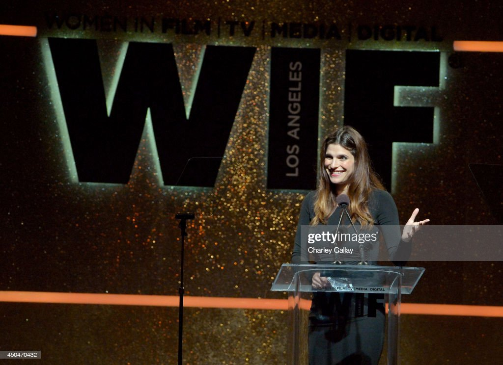 Actress/director <a gi-track='captionPersonalityLinkClicked' href=/galleries/search?phrase=Lake+Bell&family=editorial&specificpeople=209336 ng-click='$event.stopPropagation()'>Lake Bell</a> speaks onstage at Women In Film 2014 Crystal + Lucy Awards presented by MaxMara, BMW, Perrier-Jouet and South Coast Plaza held at the Hyatt Regency Century Plaza on June 11, 2014 in Los Angeles, California.