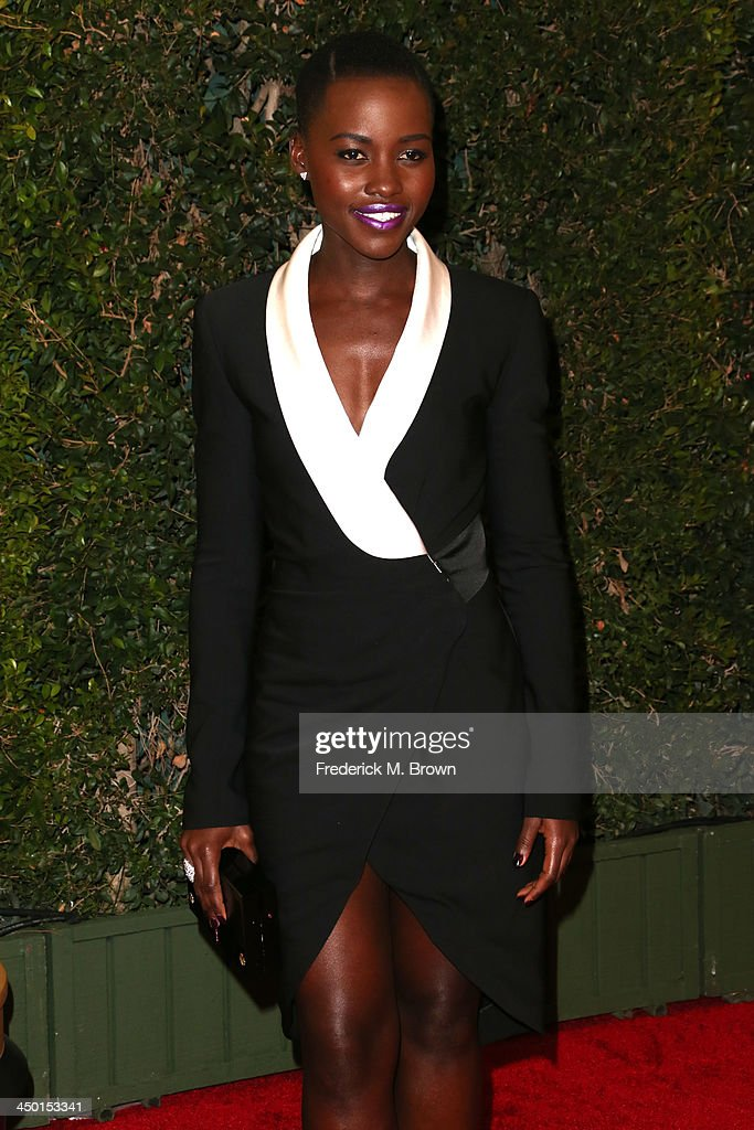 Actress/director Lupita Nyong'o arrives at the Academy of Motion Picture Arts and Sciences' Governors Awards at The Ray Dolby Ballroom at Hollywood & Highland Center on November 16, 2013 in Hollywood, California.