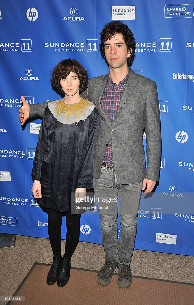 Actress/director Miranda July and actor Hamish Linklater attend 'The Future' at the Eccles Center Theatre during the 2011 Sundance Film Festival on...