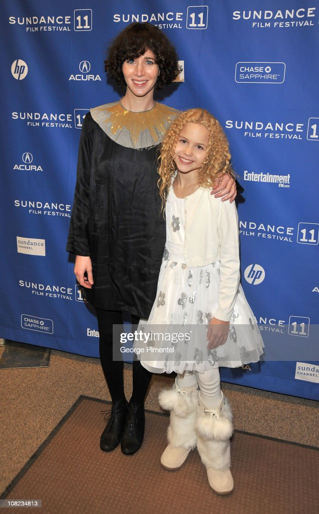 Actress/director Miranda July and actress Isabella Acres attend 'The Future' at the Eccles Center Theatre during the 2011 Sundance Film Festival on...