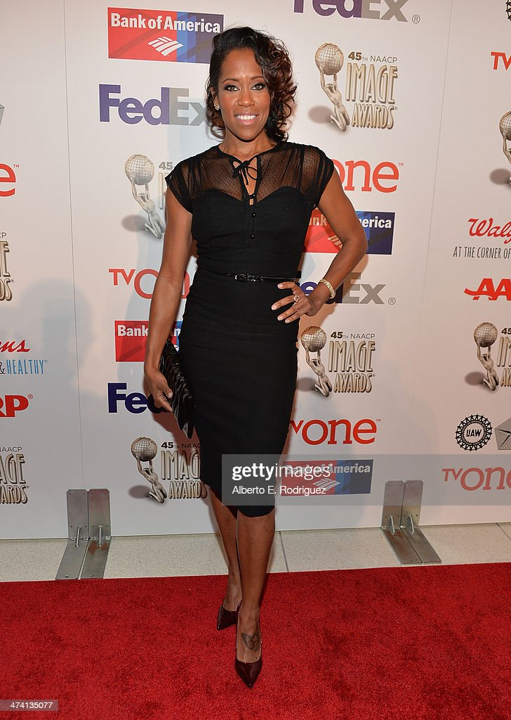 Actress/director <a gi-track='captionPersonalityLinkClicked' href=/galleries/search?phrase=Regina+King&family=editorial&specificpeople=202510 ng-click='$event.stopPropagation()'>Regina King</a> attends the 45th NAACP Awards Non-Televised Awards Ceremony at the Pasadena Civic Auditorium on February 21, 2014 in Pasadena, California.