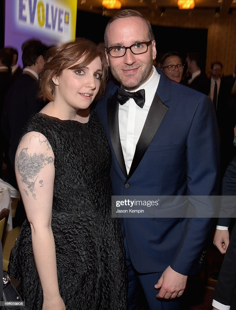 Actress/director/producer Lena Dunham (L) and Human Rights Campaign President Chad Griffin attend the Human Rights Campaign Los Angeles Gala 2015 at JW Marriott Los Angeles at L.A. LIVE on March 14, 2015 in Los Angeles, California.