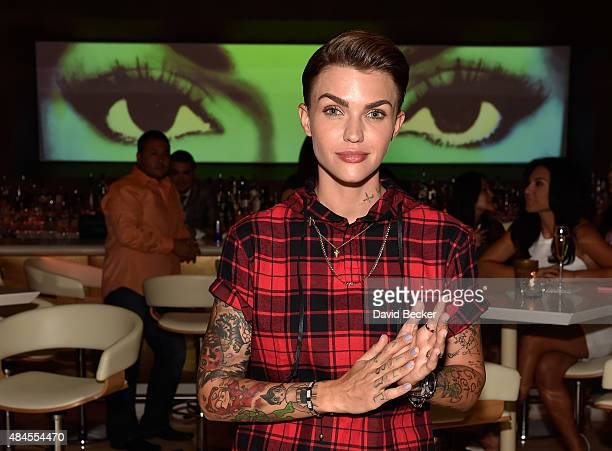 Actress/DJ Ruby Rose appears at Andrea's in Encore at Wynn Las Vegas on August 19 2015 in Las Vegas Nevada