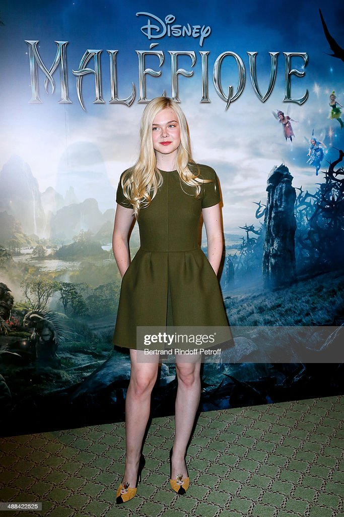 Actresse Elle Fanning attends the 'Maleficent' Paris Photocall, held at Hotel Bristol on May 6, 2014 in Paris, France.
