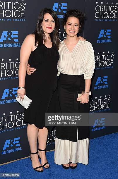 Actresses Abbi Jacobson and Ilana Glazer attend the 5th Annual Critics' Choice Television Awards at The Beverly Hilton Hotel on May 31 2015 in...