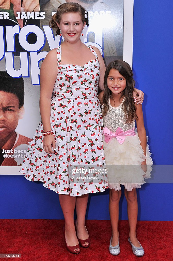 Actresses Ada-Nicole Sanger (L) and <a gi-track='captionPersonalityLinkClicked' href=/galleries/search?phrase=Alexys+Nycole+Sanchez&family=editorial&specificpeople=7064604 ng-click='$event.stopPropagation()'>Alexys Nycole Sanchez</a> attend the 'Grown Ups 2' New York Premiere at AMC Lincoln Square Theater on July 10, 2013 in New York City.