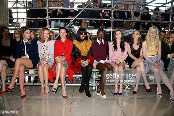 Actresses Adele Exarchopoulos Lea Seydoux Margot Robbie singer Rihanna actresses Lupita Nyong'o Elizabeth Olsen Bella Heathcote and Elle Fanning...