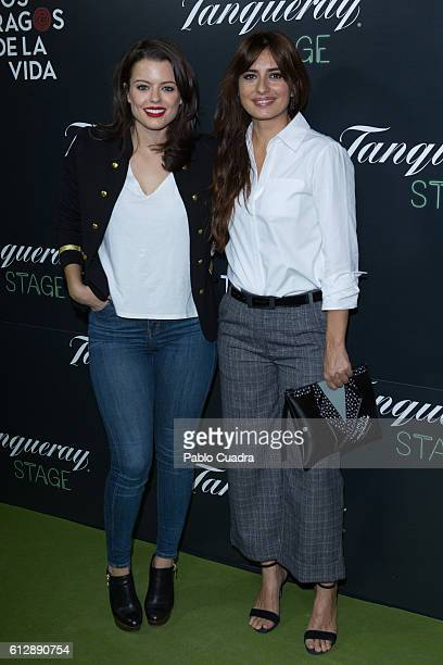 Actresses Adriana Torrebejano and Aurora Carbonell attend the 'Los Tragos de La Vida' premiere at Infanta Isabel Theatre on October 5 2016 in Madrid...