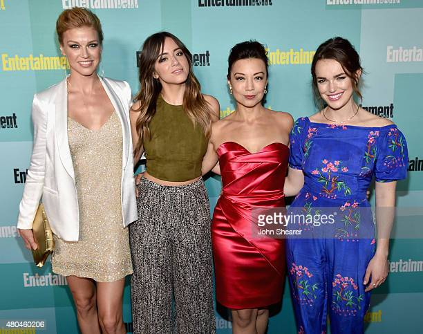 Actresses Adrianne Palicki Chloe Bennet MingNa Wen and Elizabeth Henstridge attend Entertainment Weekly's Annual ComicCon Party in celebration of...