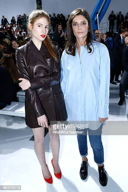 Actresses Agathe Bonitzer and Chiara Mastroianni attend the Christian Dior show as part of the Paris Fashion Week Womenswear Spring/Summer 2016 Held...