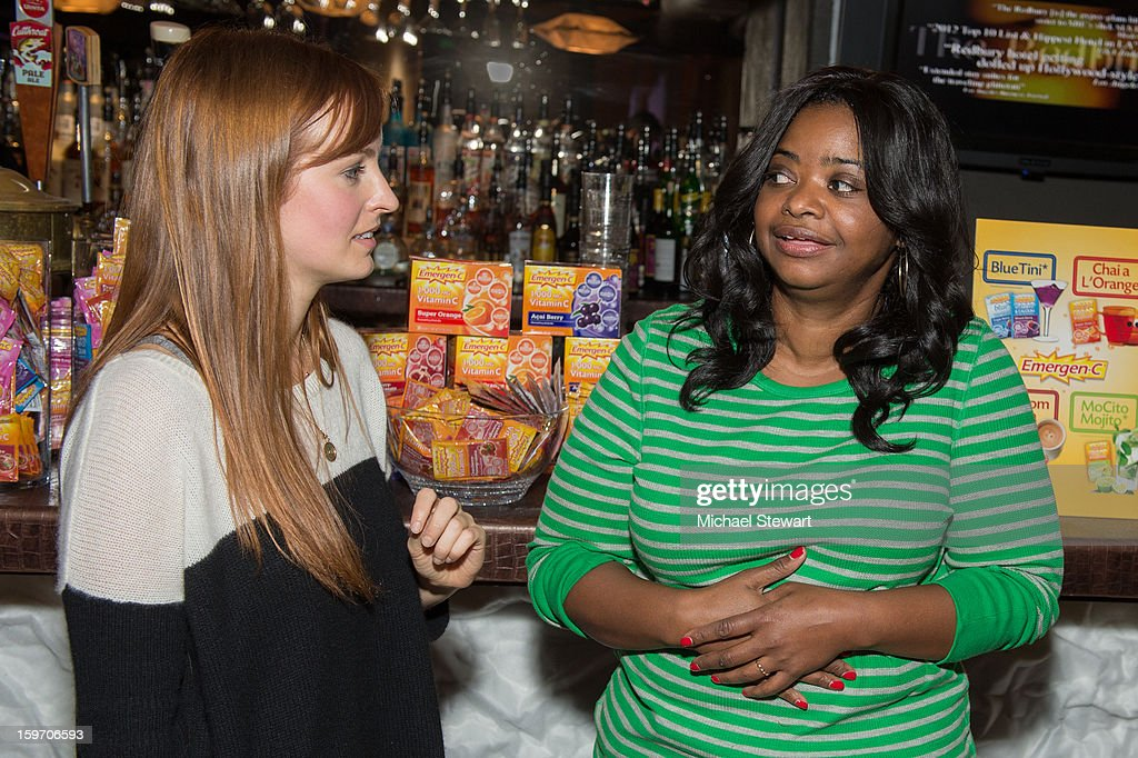 Actresses Ahna O'Reilly (L) and Octavia Spencer attend Oakley Learn To Ride In Collaboration With New Era - Day 1 - 2013 Park City on January 18, 2013 in Park City, Utah.