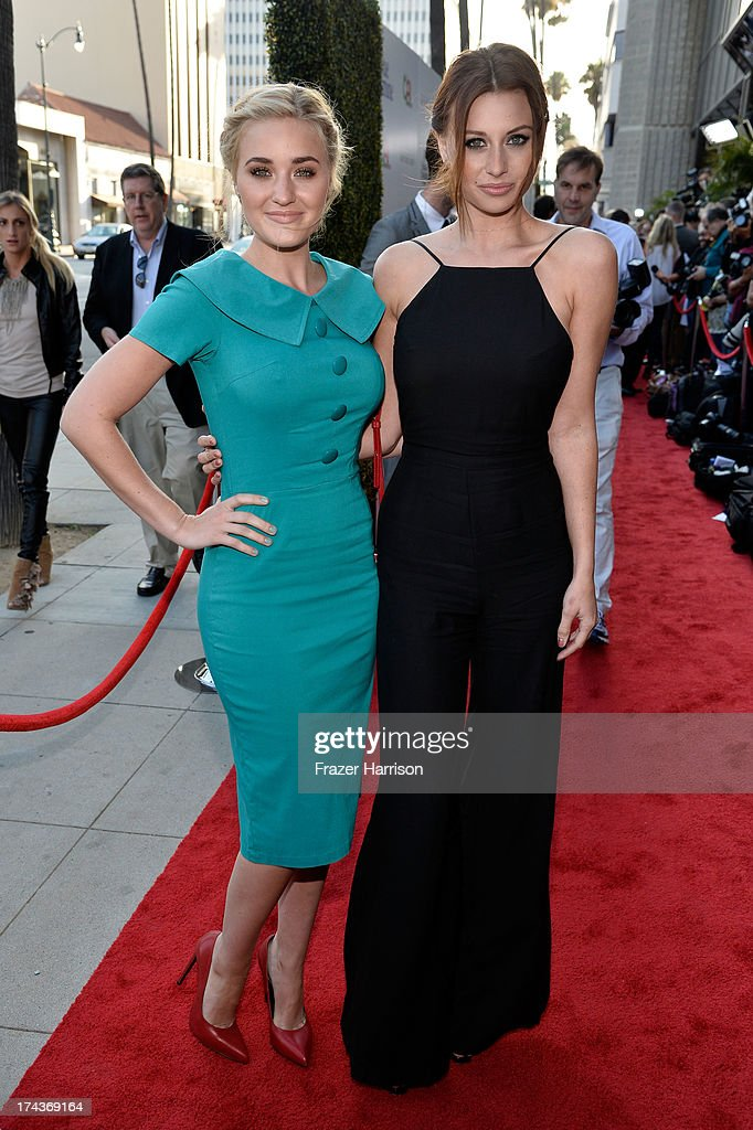 Actresses AJ Michalka (L) and Aly Michalka arrive at the premiere of 'Blue Jasmine' hosted by AFI & Sony Picture Classics at AMPAS Samuel Goldwyn Theater on July 24, 2013 in Beverly Hills, California.