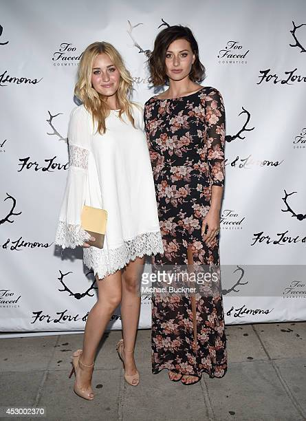 Actresses AJ Michalka and Aly Michalka attend For Love and Lemons annual SKIVVIES party cohosted by Too Faced and performance by The Shoe at The...