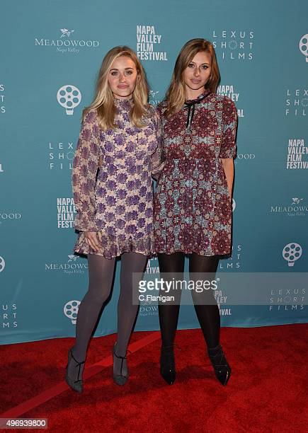 Actresses AJ Michalka and Aly Michalka attend the 2015 Napa Valley Film Festival Gala at the Lincoln Theatre on November 12 2015 in Yountville...