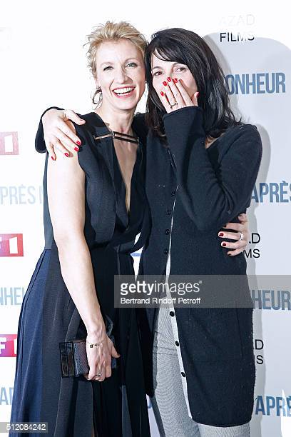 Actresses Alexandra Lamy and Zabou Breitman attend the 'Apres Moi Le Bonheur' Paris Photocall at Cinema Gaumont Marignan on February 24 2016 in Paris...