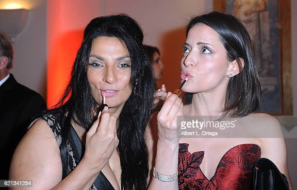 Actresses Alice Amter and Emmanuelle Vaugier arrive for MyFaceMyBody Awards held at Montage Beverly Hills on November 5 2016 in Beverly Hills...