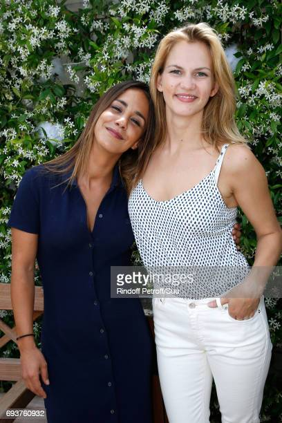 Actresses Alice Belaidi and Margot Bancilhon attend the 2017 French Tennis Open Day Twelve at Roland Garros on June 8 2017 in Paris France