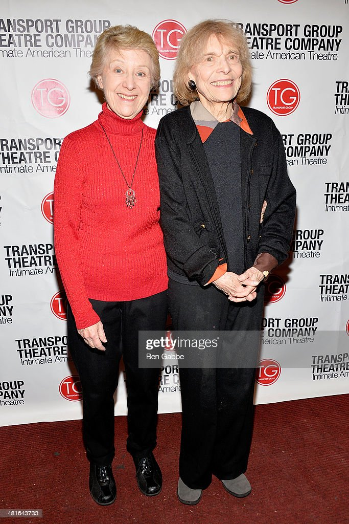 Actresses Alice Cannon (L) and Rita Gardner attend 'I Remember Mama' Opening Night at The Gym at Judson on March 30, 2014 in New York City.