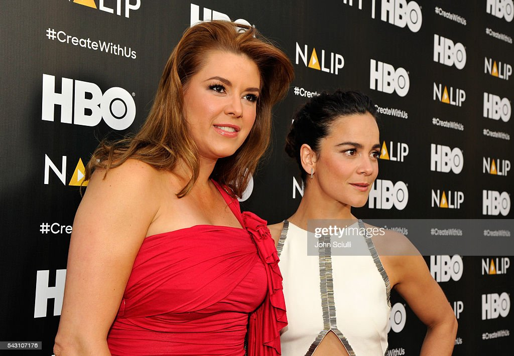Actresses <a gi-track='captionPersonalityLinkClicked' href=/galleries/search?phrase=Alicia+Machado&family=editorial&specificpeople=213579 ng-click='$event.stopPropagation()'>Alicia Machado</a> and <a gi-track='captionPersonalityLinkClicked' href=/galleries/search?phrase=Alice+Braga&family=editorial&specificpeople=211115 ng-click='$event.stopPropagation()'>Alice Braga</a> attend the NALIP 2016 Latino Media Awards at Dolby Theatre on June 25, 2016 in Hollywood, California.