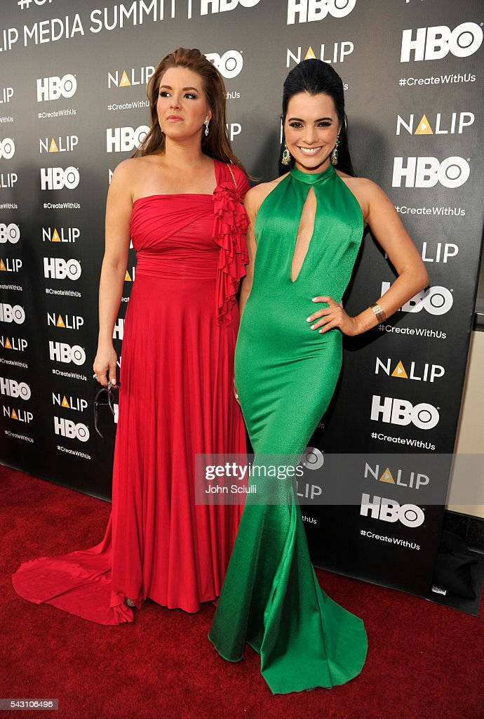 Actresses <a gi-track='captionPersonalityLinkClicked' href=/galleries/search?phrase=Alicia+Machado&family=editorial&specificpeople=213579 ng-click='$event.stopPropagation()'>Alicia Machado</a> and Scarlet Gruber attend the NALIP 2016 Latino Media Awards at Dolby Theatre on June 25, 2016 in Hollywood, California.
