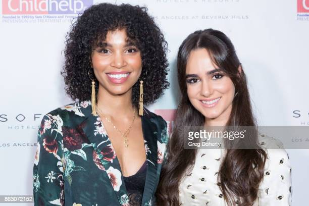 Actresses Alicia Sanz and Nesta Cooper arrive for the Childhelp Hosts An Evening Celebrating Hollywood Heroes at Riviera 31 on October 18 2017 in...