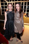 Actresses Alicia Silverstone and Juliette Lewis attend a dinner for the launch of the first luxury handbag collection by Christian Siriano at Chateau...