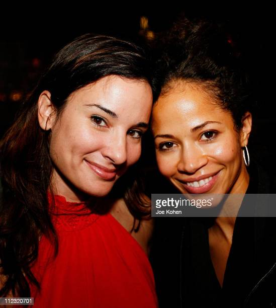 Actresses Alison Becker and Sherri Saum attend the Reebok Style Event held at the Hotel Gansevoort Rooftop on October 24 2007 in New York city