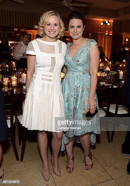 Actresses Alison Pill and Katie Lowes attend ELLE's Annual Women in Television Celebration on January 13 2015 at Sunset Tower in West Hollywood...