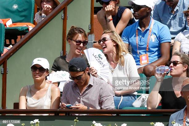 Actresses Alix Poisson and Charlie Bruneau attend the 2017 French Tennis Open Day Five at Roland Garros on June 1 2017 in Paris France