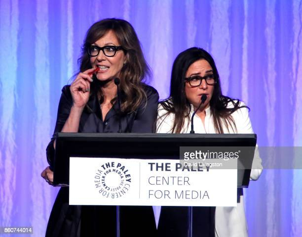 Actresses Allison Janney and Pamela Adlon speak at Paley Honors in Hollywood A Gala Celebrating Women in Television at the Beverly Wilshire Four...